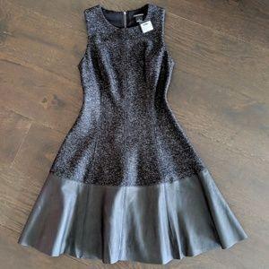 NWT CLUB MONACO Clodia Leather Dress Sz 0